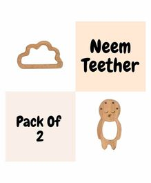 Wufiy Baby & Cloud Shape Neem Teether With Bag