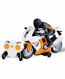 Sanjary 2.4GHz Remote Control Bike with Lights and Sounds - White