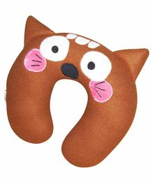 Oscar Home U Shaped Neck Pillow Mouse Design - Brown