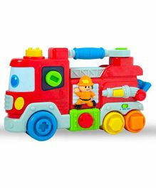 Sanjary Musical Fire Emergency Truck - Red