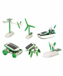 Muren Educational 6 In 1 Solar Power Energy Robot Toy Kit - Green