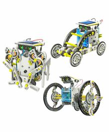 Muren 14-in-1 Educational Solar Robot Kit - Blue