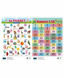 Book Ford Publication Alphabet & Number Chart Pack of 2 - English