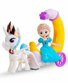 Sanjary Moon Carriage Musical Toy - Blue White