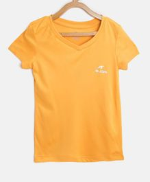 Alcis Solid Half Sleeves Tee - Yellow