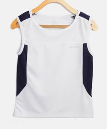 Alcis Solid Sleeveless Tank Tee - White