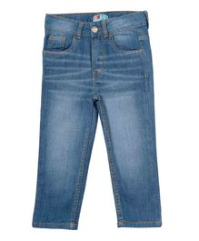 Kid Studio Solid Full Length Jeans - Light Blue