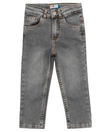 Kid Studio Solid Full Length Jeans - Light Grey