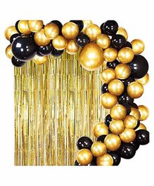 Party Propz Birthday Decoration Kit Black Golden - Pack of 103