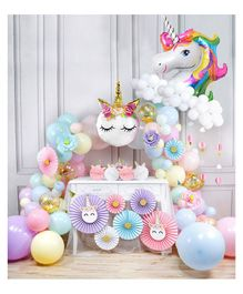 Party Propz Unicorn Theme Party Supplies - Pack of 64