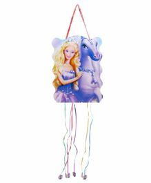 Funcart Pull String Riding Princess Theme Pinata Bag - Multicolor