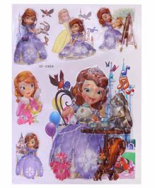 Funcart 5D Princess Sofia Room Decor Stickers - Multicolour