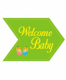 Funcart Welcome Baby Photo Booth Board - Green