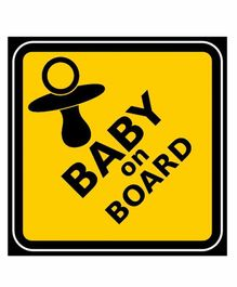 Funcart Baby On Board Photo Booth Board - Yellow Black