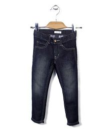 KR Stylish Jeans Pant - Dark Blue