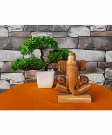 GreenMallet Bamboo Ganpati Maharaj Ecofriendly Idol - Brown