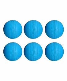 Ceela Sports Rubber Cricket Ball Pack of 6 - Blue