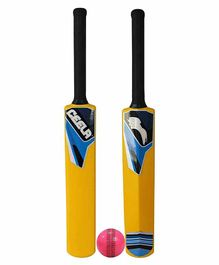 Ceela Cricket Bat and Wind Ball Set - Yellow