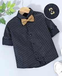 Robo Fry Full Sleeves Printed Shirts Boy BLACK 4