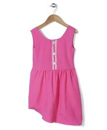 Chic Girls Attractive Party Dress - Pink