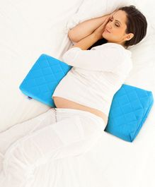 Babyhug Double Wedge Maternity Pillow  with Quilted Cover - Blue