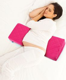 Babyhug Double Wedge Maternity Pillow with Quilted Cover - Pink