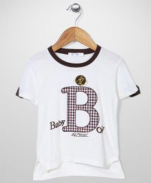 AZ Baby Baby Boy Printed Top - White