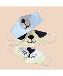 Masilo 100% Cotton Face Protection Masks Animal Print - Set of 3