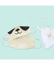 Masilo 100% Cotton Face Protection Masks Off White - Pack of 2