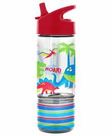 Stephen Joseph Sip And Snack Bottle Dino Print Red - 350 ml & 104 ml