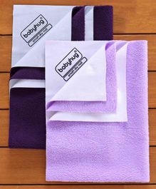 Babyhug Smart Dry Bed Protector Sheet Pack of 2 - Purple