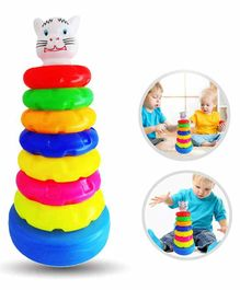 Planet of Toys Ring Throwing And Size Matching Game - Multicolour