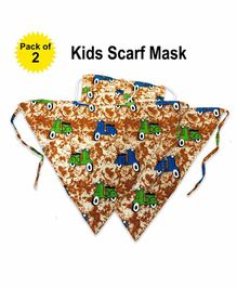 Hugsnug Reusable Scarf Style Face Mask Scooter Print Multicolor - Pack of 2