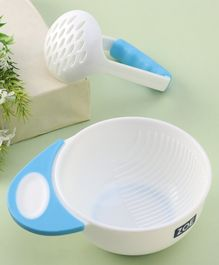Zoe Feeding Bowl With Masher - Blue White