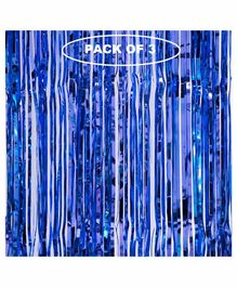 Party Anthem Holographic Fringe Curtain Dark Blue - Pack Of 3