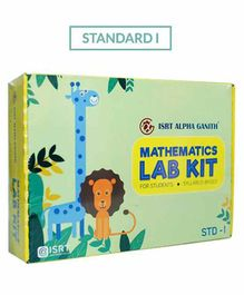 Math Lab Kit ISRT Alpha Ganith Activity Box Standard 1 - Multicolour