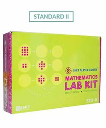 Math Lab Kit ISRT Alpha Ganith Activity Box Standard 2 - Multicolour