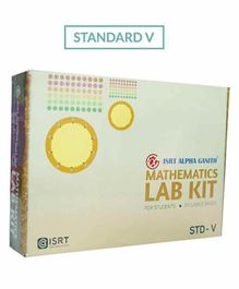 Math Lab Kit ISRT Alpha Ganith Activity Box Standard 5 - Multicolour