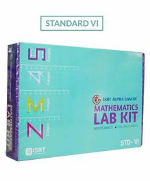 Math Lab Kit ISRT Alpha Ganith Activity Box Standard 6 - Multicolour
