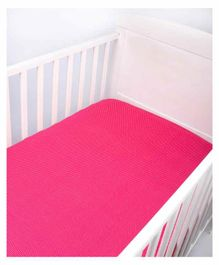 Blooming Buds Small Dots Cotton Fitted Crib Sheet - Pink