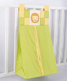 Blooming Buds Lion Embroidery Diaper Stacker - Beige & Green