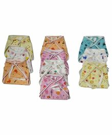 Chirsh Hosiery Cotton Cloth Nappies Pack of 20 - Multicolor
