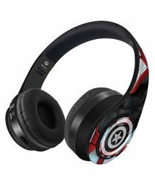 Marvel Captain America Endgame Decibel Wireless On Ear Headphones - Multicolour