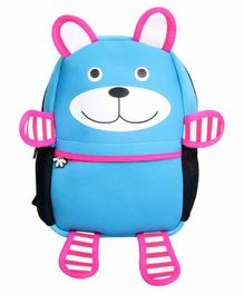 EZ Life Bag Happy Bear Print Aqua Blue - 16 Inches