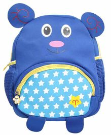 EZ Life Bag 3D Bear Ears & Print Blue - 13.77 Inches