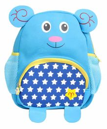 EZ Life Bag 3D Bear Ears & Print Aqua Blue - 13.77 Inches