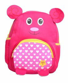 EZ Life Bag 3D Bear Ears & Print Pink - 13.77 Inches