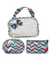 EZ Life 3 Pieces Cosmetic Travel Kit - Blue Red
