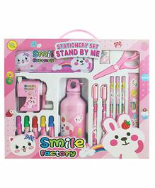 EZ Life Stationery Set Pink Pack of 1 - 17 Pieces