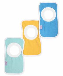 Mi Arcus Premium Organic Cotton Pullover Bib Pack of 3 - Blue, Sky Blue & Yellow